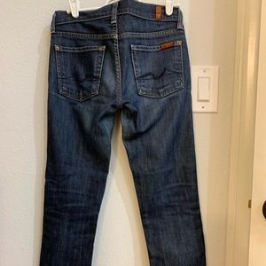 7 for all mankind Roxanne skinny jeans sz 24